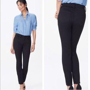 Nydj alina black super skinny jeans stretch